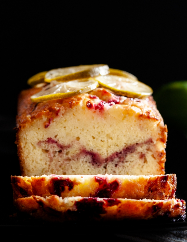 Blackberry Gin And Tonic Pound Cake