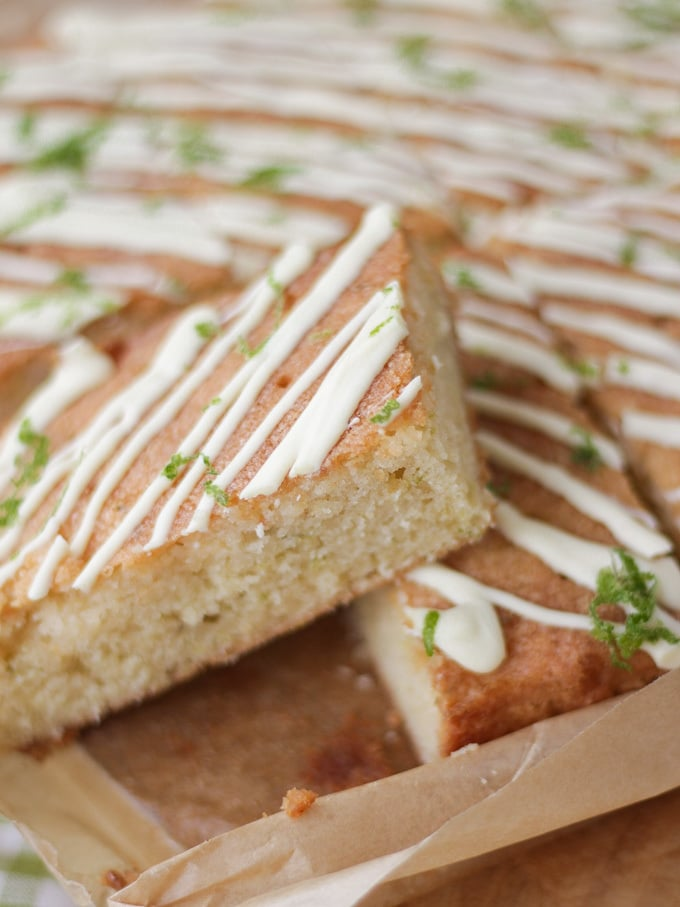 Gin And Tonic Cake Bars